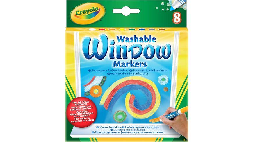 Crayola -Klassik - 8 auswaschbare Fensterfilzstifte