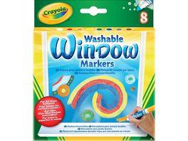 Crayola Klassik 8 auswaschbare Fensterfilzstifte
