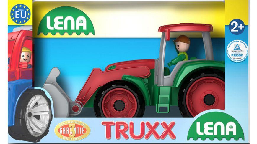 Lena Fahrzeuge Truxx 04417 Traktor Schaukarton