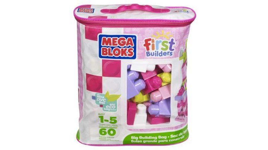 Fisher Price Mega Bloks First Builders Bausteinebeutel Medium 60 Teile pinkfarben