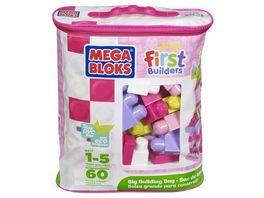 Mega Bloks Bausteine Beutel pink 60 Teile Steck Bausteine Kinder Baukloetze