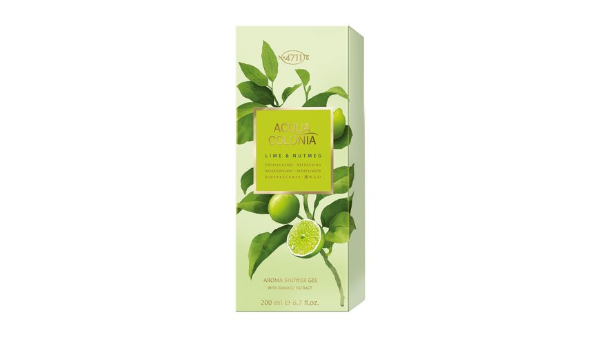 4711 Acqua Colonia Lime Nutmeg Aroma Showergel
