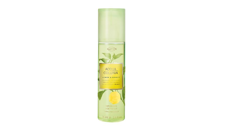 4711 Acqua Colonia Lemon Ginger Refreshing Body Spray