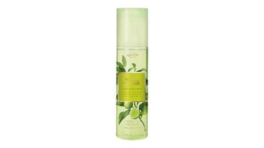 4711 Acqua Colonia Lime Nutmeg refreshing Body Spray