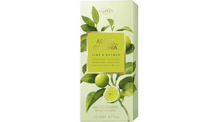 4711 Acqua Colonia Lime Nutmeg Eau de Colgone Natural Spray