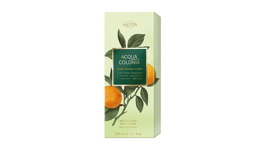 4711 Acqua Colonia Blood Orange Basil Moisturizing Body Lotion