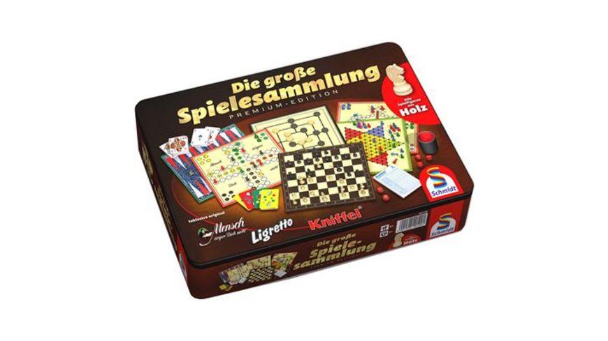 Schmidt Spiele Spielesammlungen Die grosse Spielesammlung Metalldose