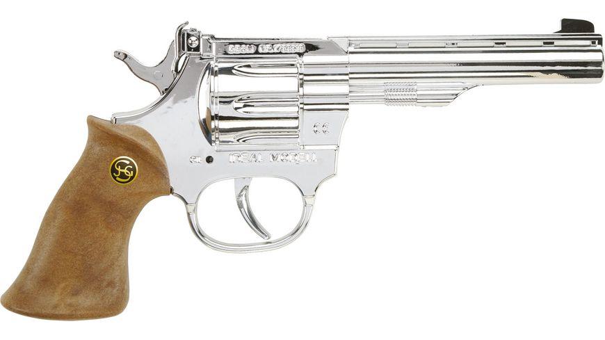 J G Schroedel Kadett silber 100 Schuss Pistole Knalllautstaerke 125 db
