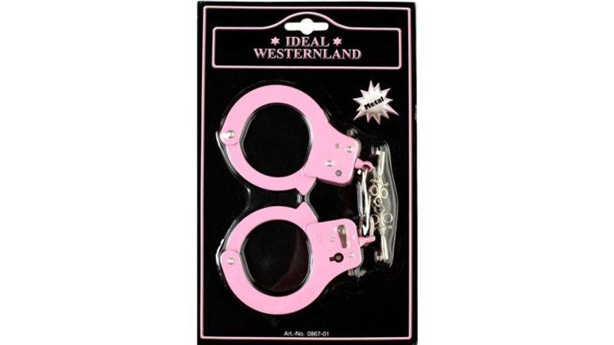 J G Schroedel Handschellen pink