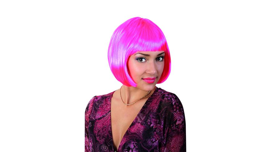 Fries Peruecke Lola neon pink