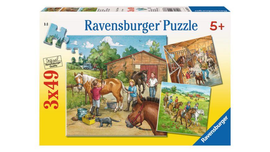 Ravensburger Puzzle - Mein Reiterhof, 3 x 49 Teile