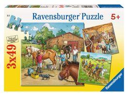 Ravensburger Puzzle Mein Reiterhof 3 x 49 Teile