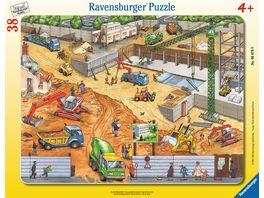 Ravensburger Rahmenpuzzle Auf der Baustelle 38 Teile