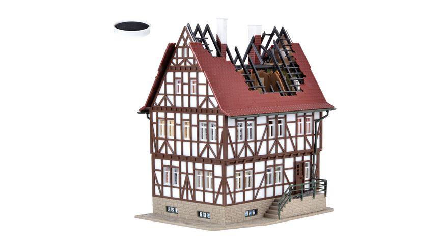 Vollmer H0 Brennendes Haus