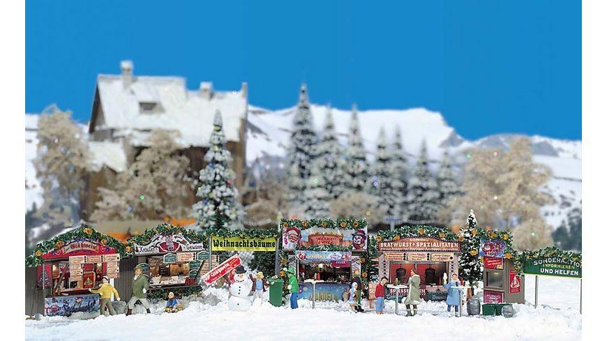 Busch 1059 Modellbahnzubehoer Weihnachtsmarkt