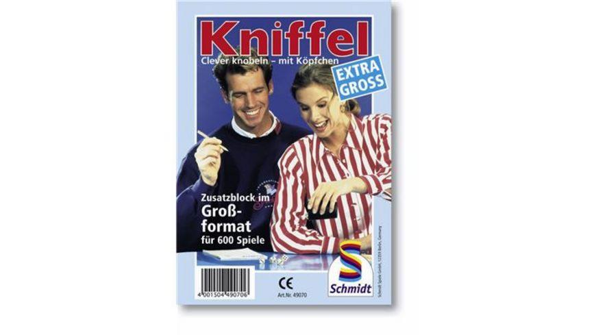 Schmidt Spiele Familienspiele Kniffel Grosser Kniffelblock
