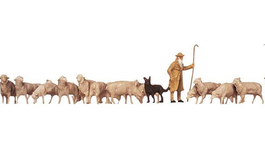 Faller 154001 H0 Figuren Schaefer Hund Schafe