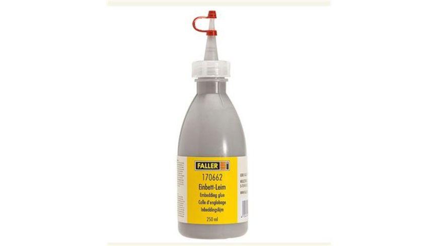Faller 170662 Einbett Leim schottergrau 250 ml