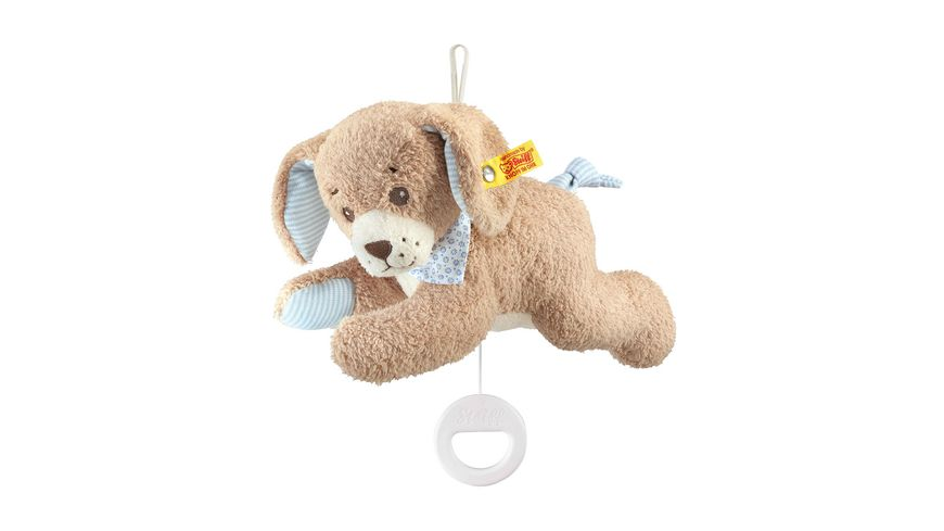 Steiff Babywelt Spielzeug Spieluhren Gute Nacht Hund Spieluhr blau 22cm