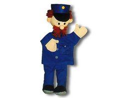 Trullala Polizist blau Handpuppe 40 cm