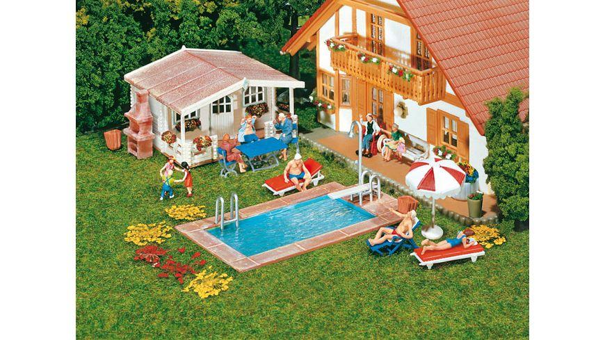 Faller 180542 H0 Swimming Pool Gartenhaus