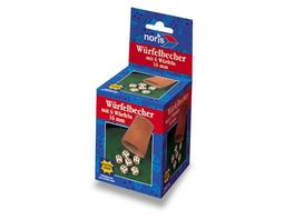 Amigo Spiele Wuerfelbecher mit 6 Wuerfeln