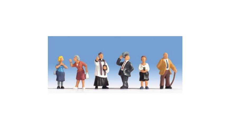 NOCH 15577 H0 FIGUREN - Kirchgänger, 6 Figuren