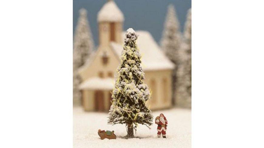 NOCH 11912 H0 Weisse Weihnacht beleuchtet