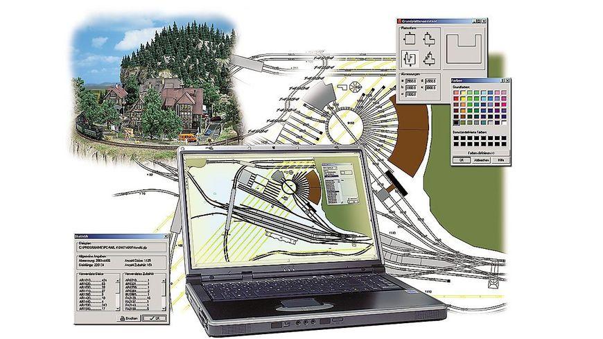 Busch Modellbahnzubehoer PC Rail fuer Windows