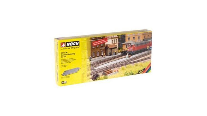 NOCH 66010 Universal Bahnsteig 3 er Set Laser Cut je 27 1x8 3x1 1 cm