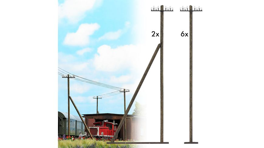Busch 1499 Modellbahnzubehoer Telegrafenmasten