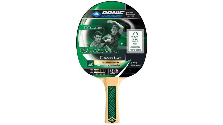 Donic-Schildkröt - Tischtennisschläger Champs Line 400, 1,5 mm Schwamm, Jade - ITTF Belag
