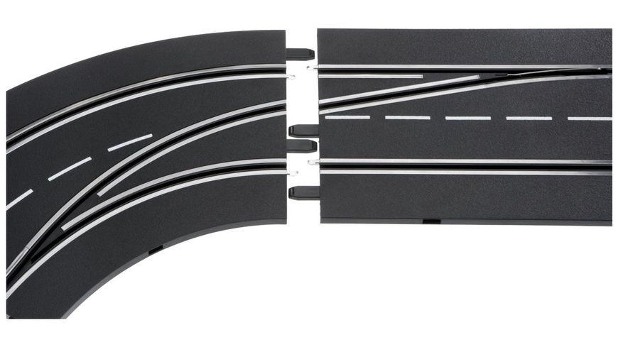 Carrera DIGITAL 124 Spurwechselkurve links aussen nach innen