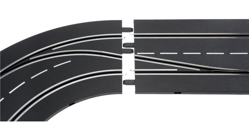 Carrera DIGITAL 124 Spurwechselkurve links innen nach aussen