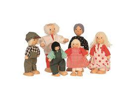Beluga 6 koepfige Puppenfamilie aus Holz