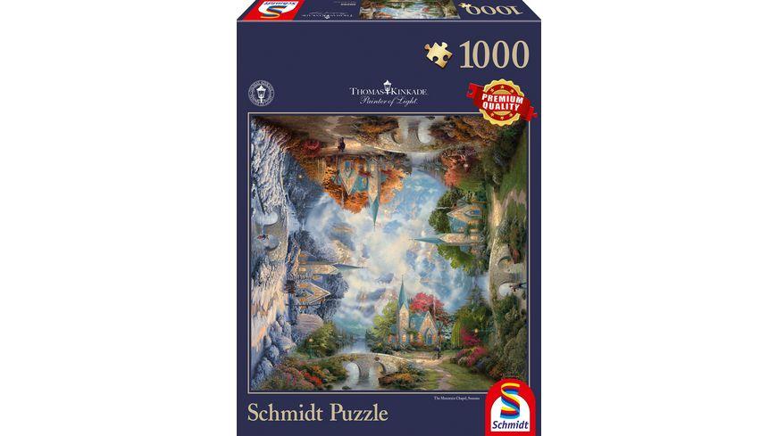 Schmidt Spiele Erwachsenenpuzzle Die Kirche in den Bergen 1000 Teile
