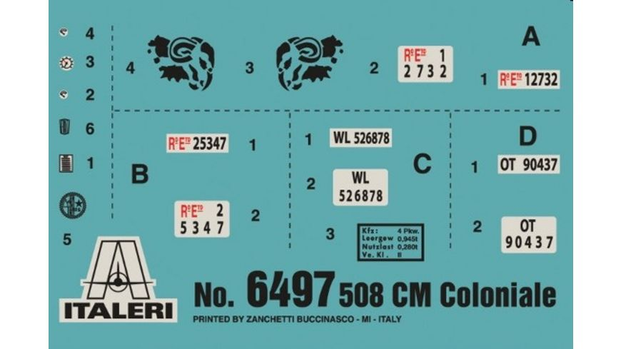 Italeri 6497 Militaerfahrzeuge 1 35 Coloniale 508 cm