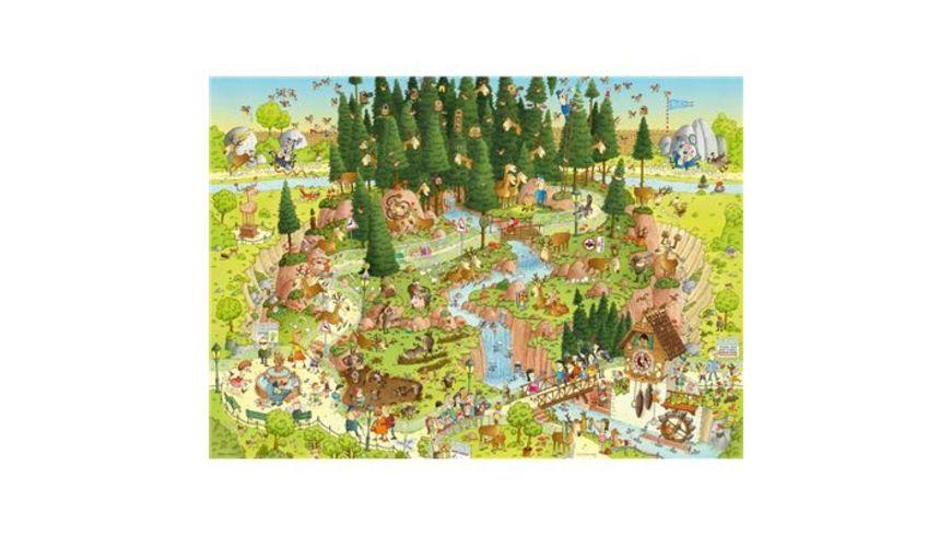 Heye Standardpuzzle 1000 Teile Funky Zoo Black Forest Habitat
