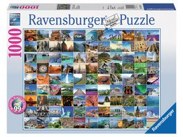 Ravensburger Puzzle 99 Beautiful Places on Earth 1000 Teile