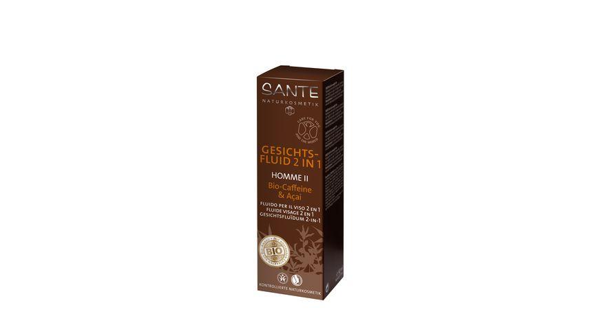 SANTE Homme II Gesichtsfluid 2 in 1 Bio Caffeine Acai
