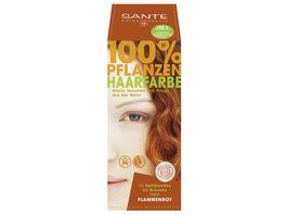 SANTE Pflanzen Haarfarben Pulver Flammenrot