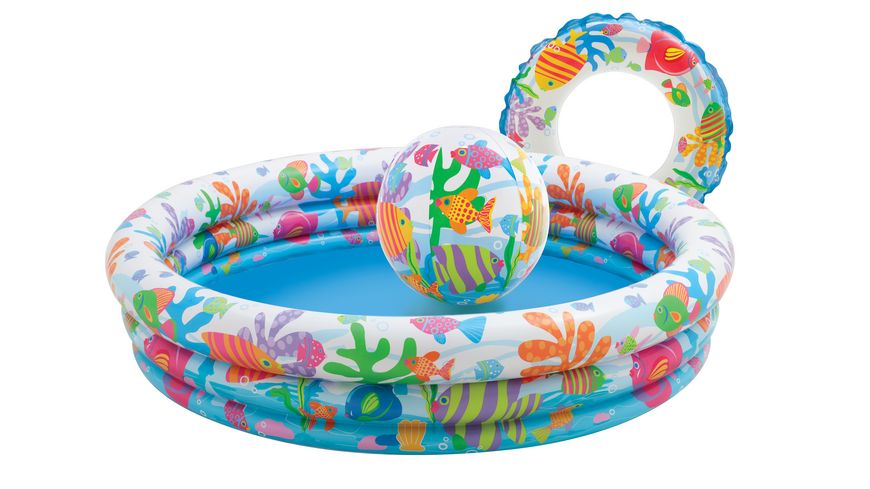 Intex Pool Set 3 Ring Fishbowl 132x28cm