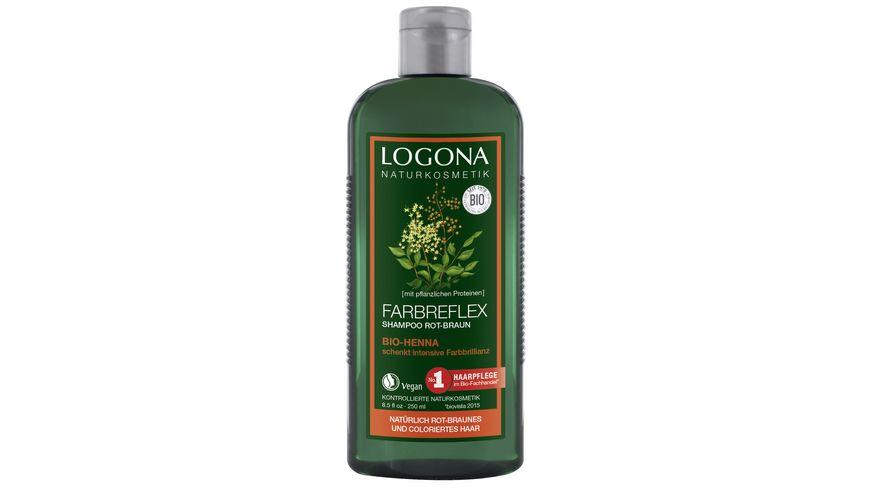 LOGONA Farbreflex Shampoo Rot Braun Bio Henna