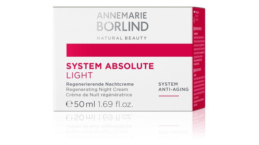 ANNEMARIE BOeRLIND SYSTEM ABSOLUTE Regenerierende Nachtcreme light