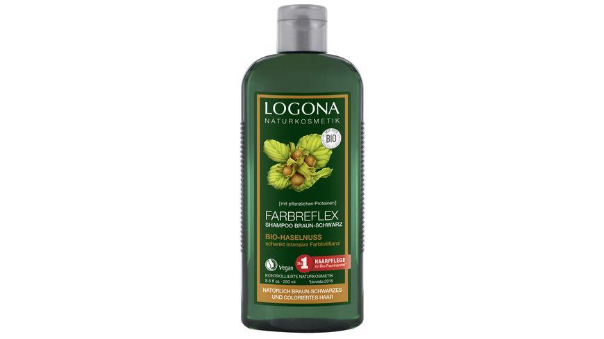 LOGONA Farbreflex Shampoo Braun-Schwarz Bio-Haselnuss