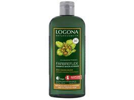 LOGONA Farbrefelx Shampoo Braun Schwarz Bio Haselnuss