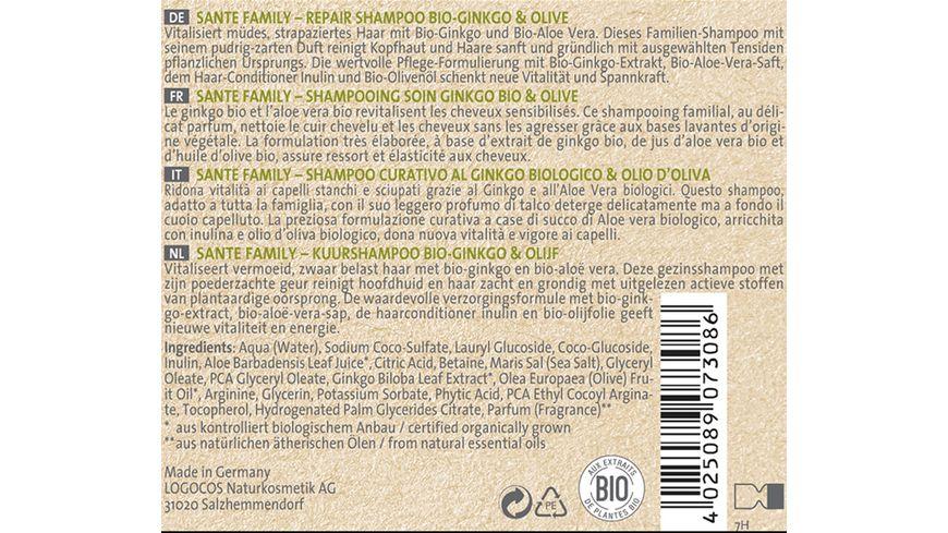 SANTE Family Repair Shampoo Bio Ginkgo Olive