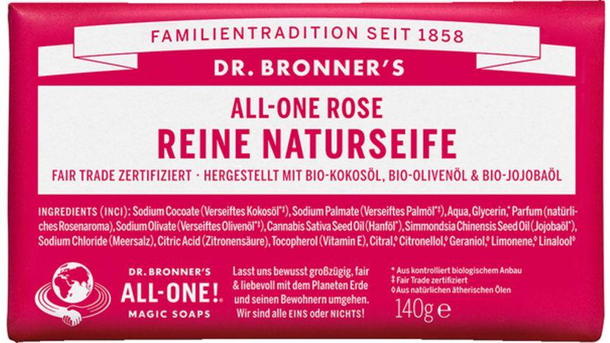 DR BRONNER S natuerliche Fair Trade Stueckseife Rose