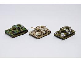Van Manen Panzermodelle mit Rueckzugmotor 3 fach sortiert