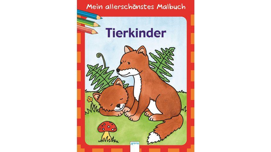 Buch ARENA Mein allerschoenstes Malbuch Tierkinder